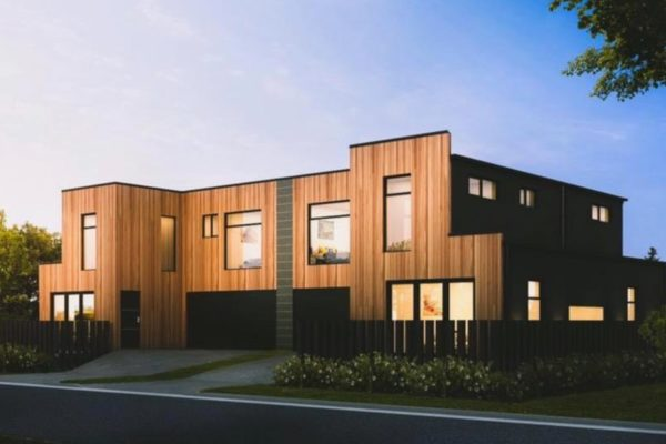 Cannon Street townhouses exterior built by Forbes Residential Christchurch builders
