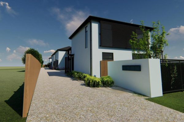 St Albans townhouses exterior built by Forbes Residential builders Christchurch
