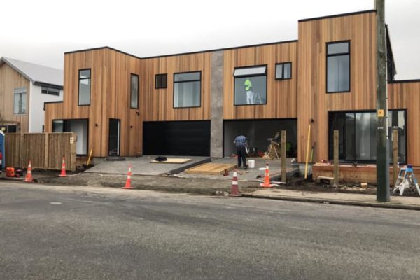 Cannon Street townhouses exterior being built by Forbes Residential in Christchurch