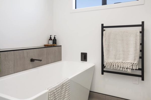 bathroom at Cannon Street new build built by Forbes Residential Christchurch builders