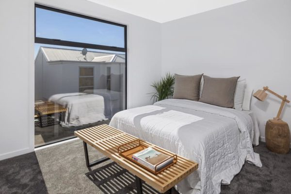 Bedroom built by Forbes Residential Christchurch builders at the Cannon Street townhouses