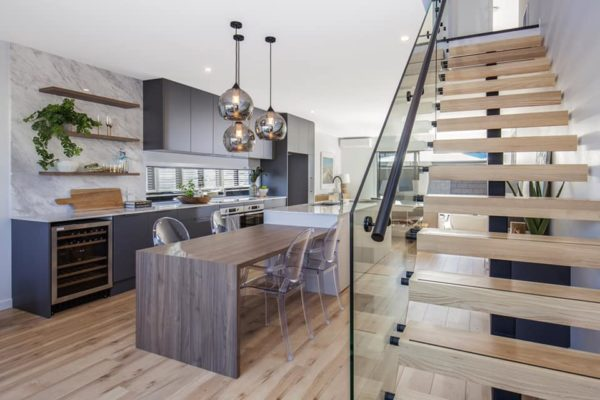 Forbes Residential Cannon Street townhouses kitchen and staircase in Canterbury