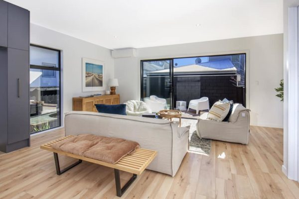 Cannon Street townhouses Christchurch lounge built by Forbes Residential