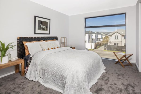Cannon Street townhouses bedroom built by Forbes Residential Christchurch