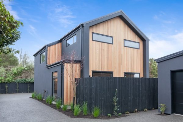 exterior of Bishop Street new build Christchurch built by Forbes Residential