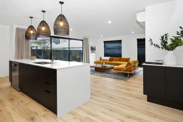 Bishop Street new build kitchen and living room built by Forbes Residential
