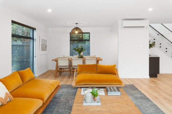 living and dining room built by Forbes Residential at the Bishop Street new build Canterbury