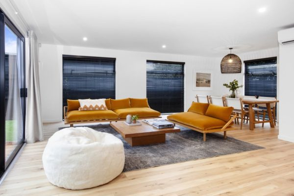 Bishop Street new build living and dining room built by Forbes Residential in Christchurch New Zealand