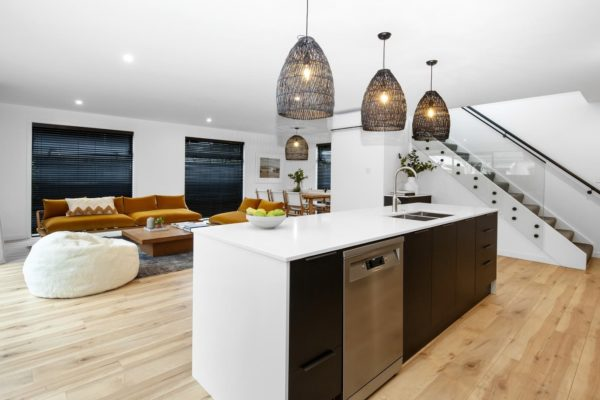 Forbes Residential builders turnkey home Bishop Street kitchen and stairs