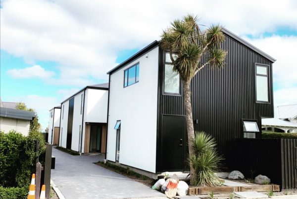 Edgeware townhouses built by Forbes Residential in Christchurch New Zealand