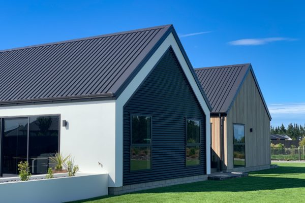 Forbes Residential McHughs new build Christchurch Canterbury finished outside view with landscaping