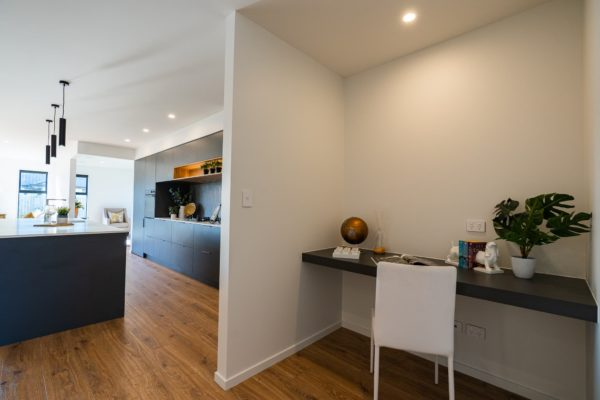 Forbes Residential Two Roads new build New Zealand office desk and kitchen