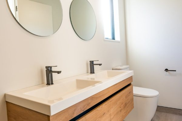 Forbes Residential Two Roads new build Canterbury bathroom sink