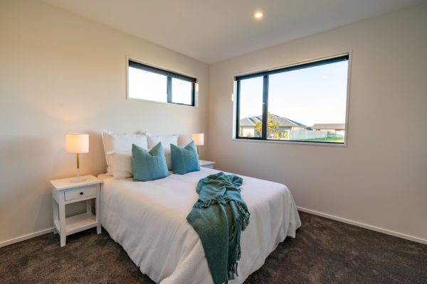 Forbes Residential Two Roads new build Christchurch bedroom with view out of window