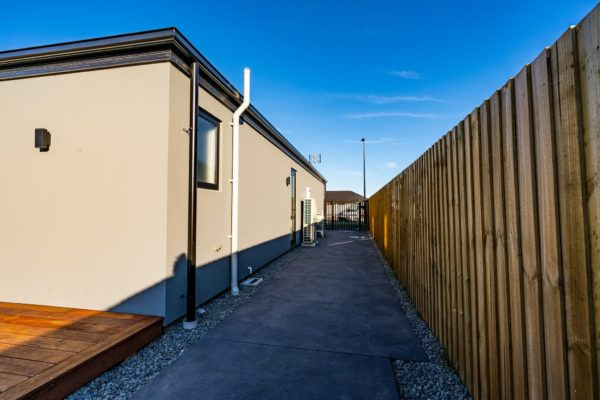 Forbes Residential Two Roads new build pathway beside house